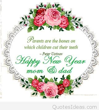 mom dad new year messages