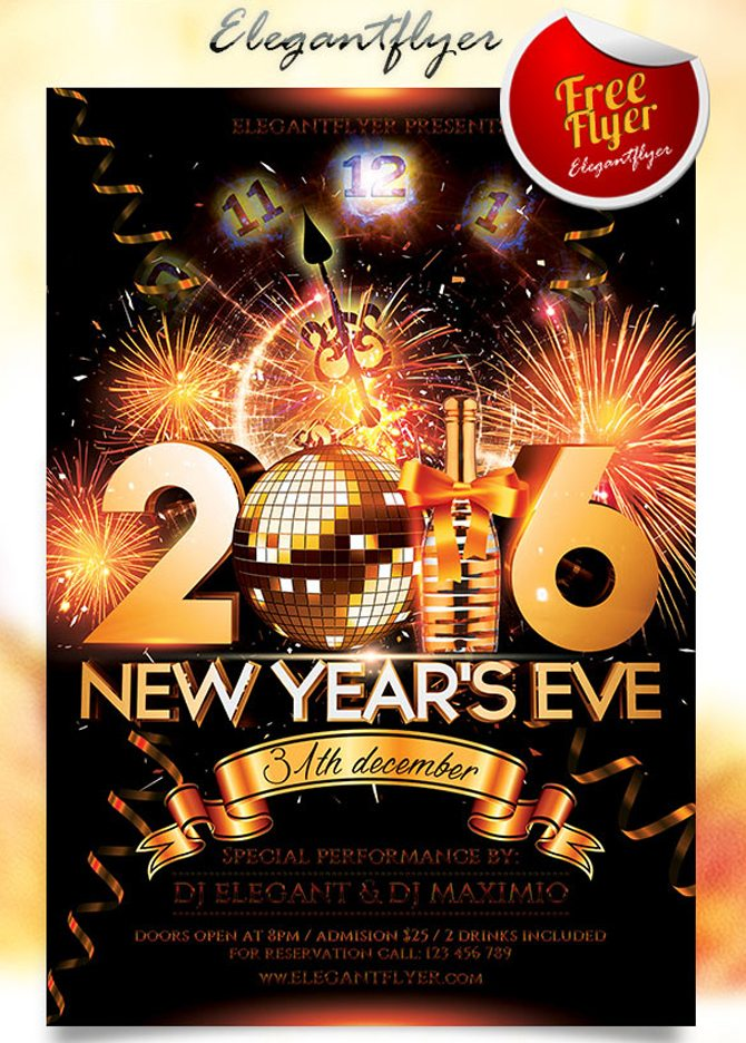 nwe new year poster