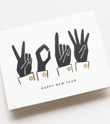 official new year cards