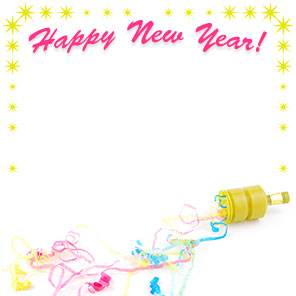 party popper new year border