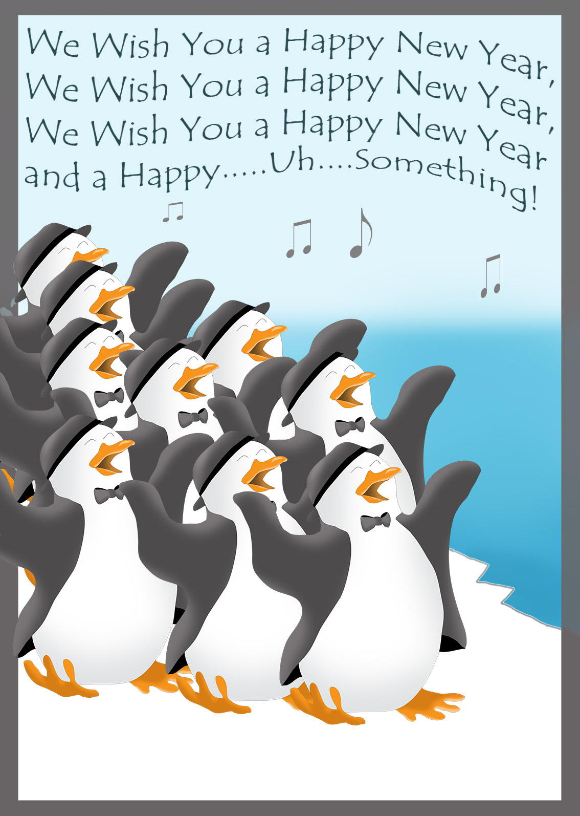 penguin new year clip art