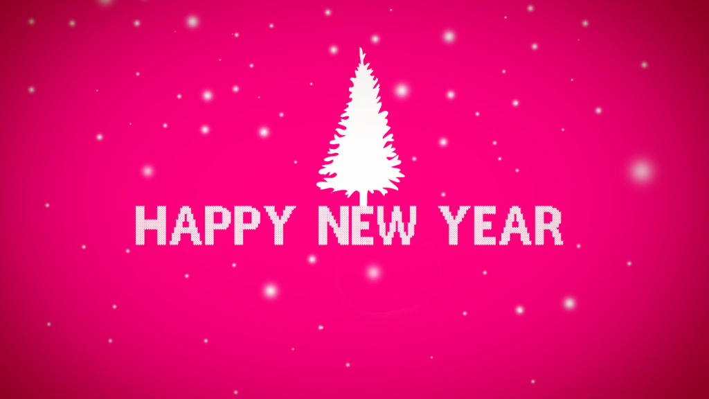 pink happy new year