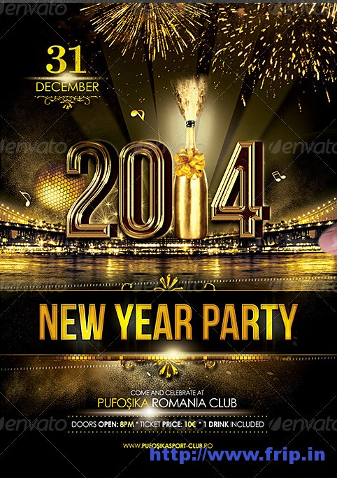 pre party new year poster