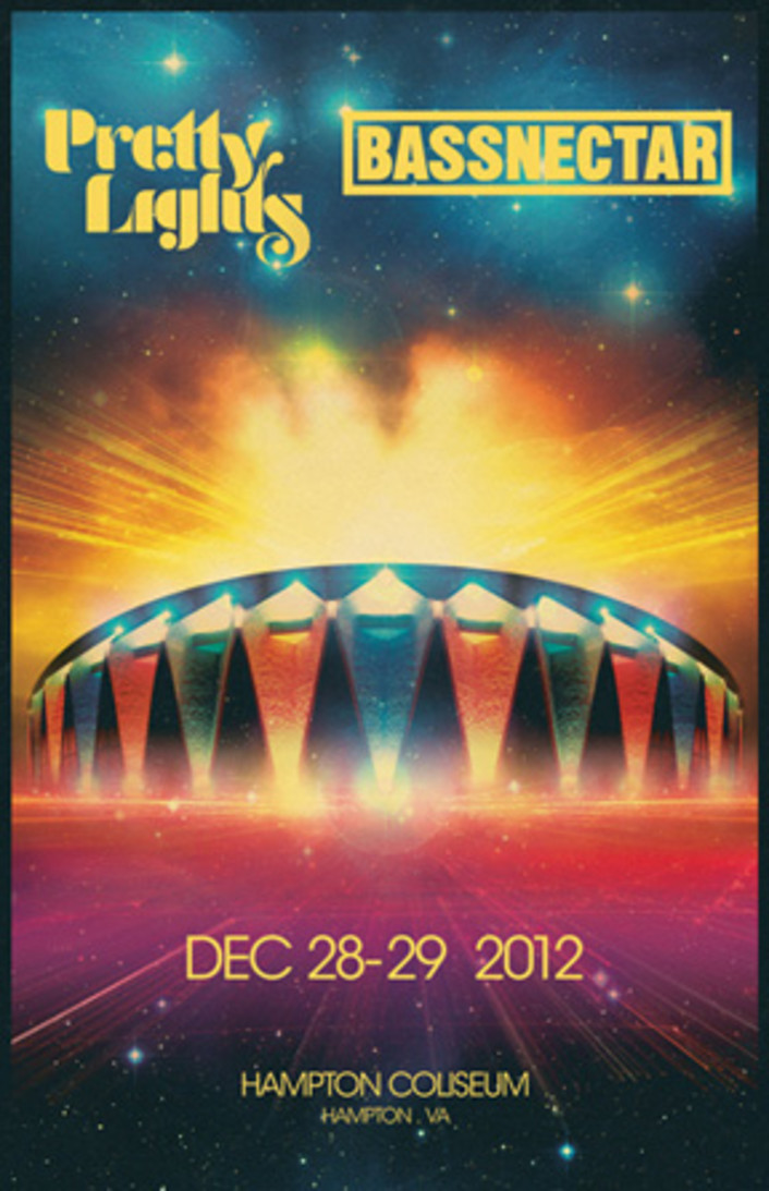 pretty light new year poster