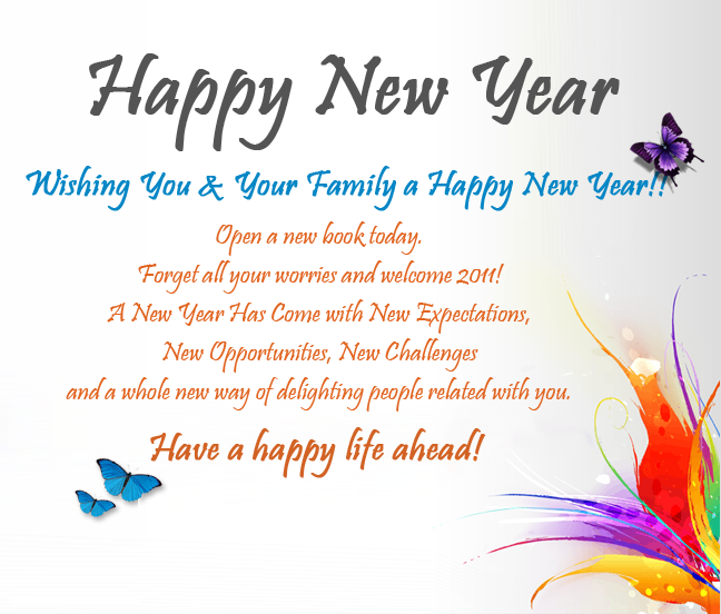 reply new year messages