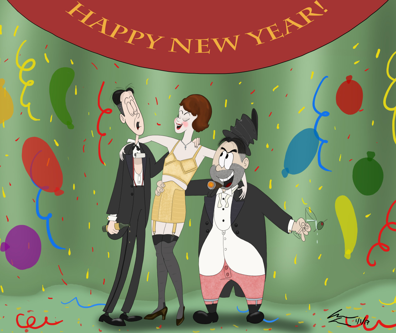 risque new year cards