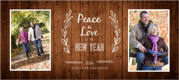 rustic new year cards