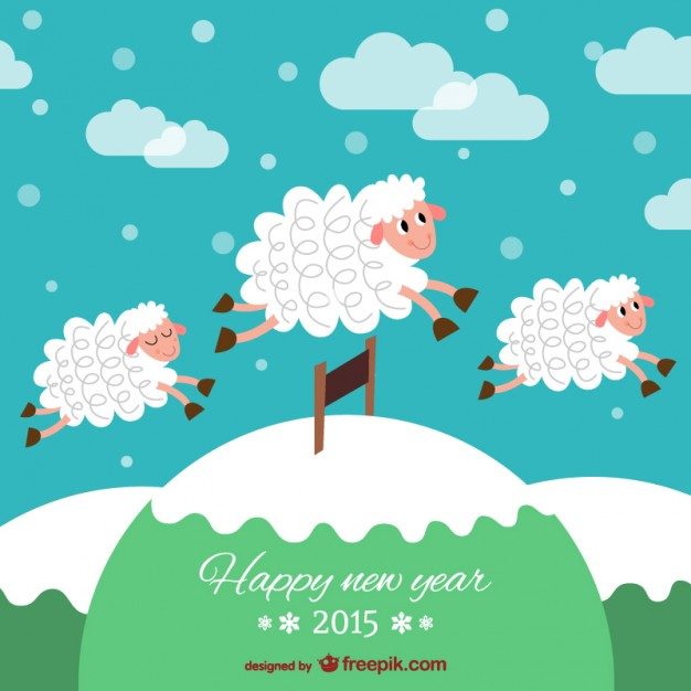 sheep new year cards