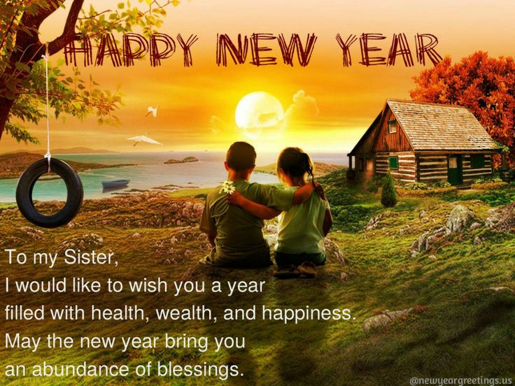 sister new year greetings