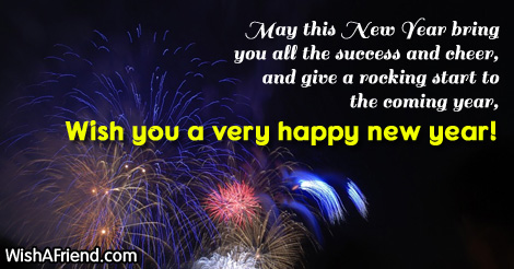 success new year saying