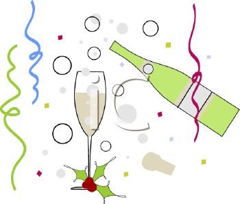 toast new year clip art