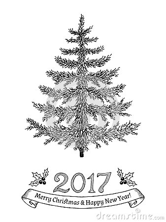 tree new year drawings