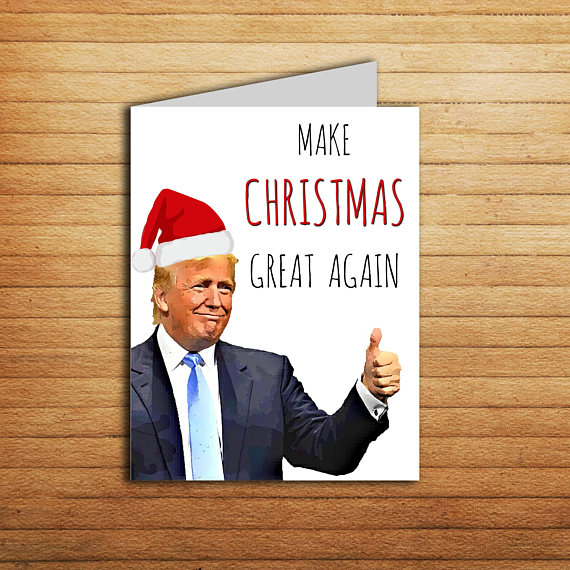 trump new year cards