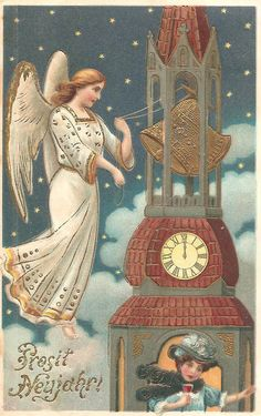 victorian new year cards