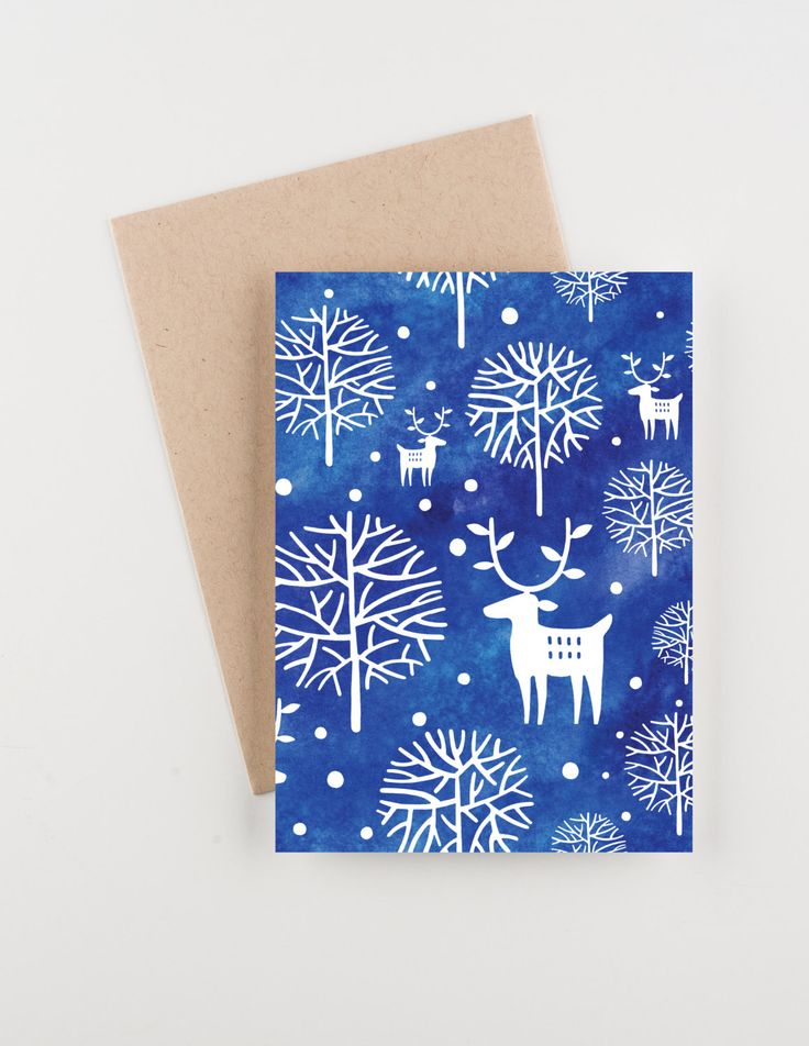 winter new year cards
